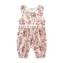 2017 Flower baby Romper Lovely Summer baby Overalls Sleeveless baby one piece Clothing