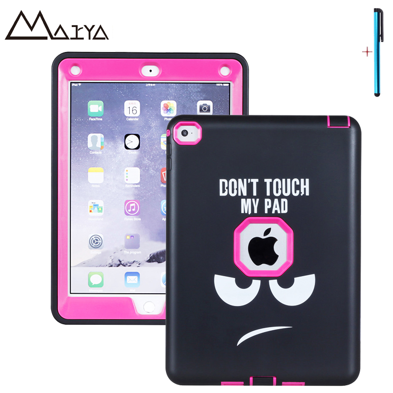 Case For iPad Air 2 Case Tablet Character Three Layer Heavy Duty Armor Shockproof Silicon Hard Protective Shell For iPad6 Fundas<br>