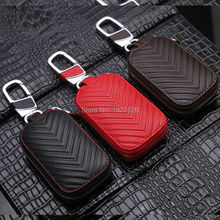 Genuine Leather Car Key Case Wallets for Dodge Journey Caliber Charger challenger Durango Dart Dakota