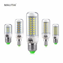 Replace CFL 7W 12W 15W 20W 25W 30W E27 E14 220V LED light Bulb High Luminous 5730 Spotlight LEDs Corn lamp Chandelier lighting(China)