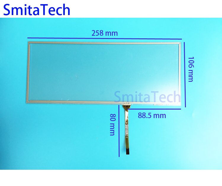10.2 inch 4wire Resistive ST-102004 258x106mm for BMW X1 X3 X5 X6 X7 car touch panel UpgraTouch screen Digitizer Lens 258*106mm <br>