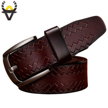 New 2017 Fashion Cow Genuine leather belts men Luxury belt man Designer Pin buckle strap High quality cowhide girdle for jeans(China)