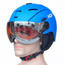 Half-covered CE Certification Ski Helmet Integrally-molded Outdoor Sports Goggles Skiing Helmet Snowboard Helmet(China)