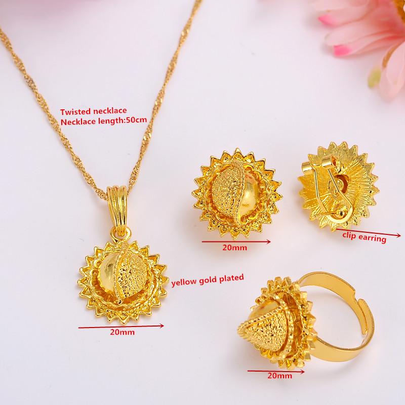 Ethiopian-Gold-Jewelry-Sets-Earrings-Pendant-Ring-KenyaTraditional-African-bridal-Habesha-Women-Party-African-wedding-gift
