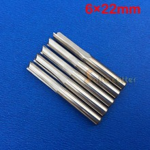 5pcs double flute straight slot milling cutter CNC router bits for MDF Foam 6mm 22mm