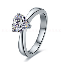 Solid Gold Ring Promise Marriage Jewelry 7*7mm 2Carat  Diamond Solitaire 14K White Gold Engagement Fiancee Jewelry