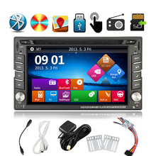 6.2inch Car headunit LCD Car Radio Player Double 2 DIN in-dash Car Stereo DVD Player  Built-in Bluetooth GPS USB iPod+Map