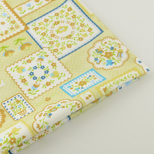 News Yellow Floral Designs 100% Cotton Fabric Twill Fabrics Decoration Home Textile Quilting Patchwork Tela Bedding Scrapbooking