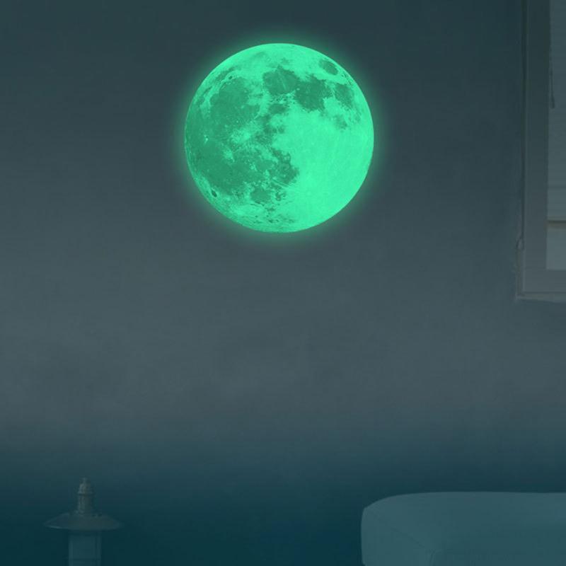 HTB1e7Clckfb uJkHFJHq6z4vFXar - Glow Star Moon Wall Stickers Luminous Moon Glow in the Dark For Kids Rooms