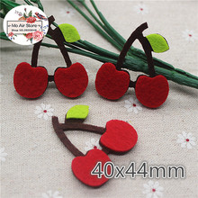 4CM Non-woven patches Cherry Felt Appliques for clothes Sewing Supplies diy craft ornament