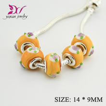 Wholesale AAA Italian Murano Glass Beads Disni Ariel'S Signature Color Glass Charms Fit Bracelet cristal TK081(China)