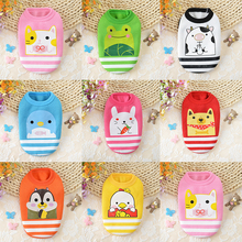 Winter Warm Puppy Coat Soft Fleece Cartoon Pet Dog Clothes For Small Dogs Cat Kitten Cute New Born Baby Pet Clothing XXXS-XS(China)