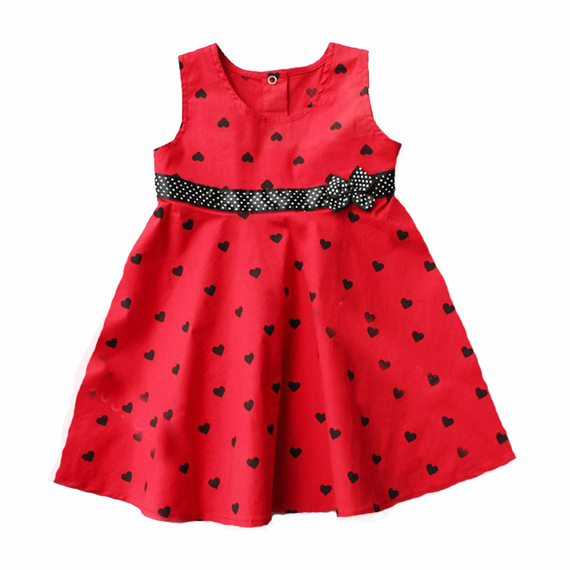 girl dress summer brand toddler girls clothes 2017 summer polka dot heart kids dresses high quality bow belt party girl dress<br><br>Aliexpress