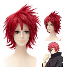 Naruto Akactuki Cosplay Wigs Halloween Sasori Short Red Cosplay Wig