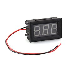 Meter Mini Panel 7-120V DC Voltmeter Tension Show 20mA Two Wires Yellow