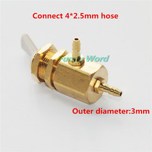 New 3mm Dental Valve On Off Switch Toggle 3pcs for Dental Chair Unit Water Bottle Parts Connect 4*2.5 mm Hose