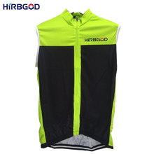HIRBGOD 2016 new design mens summer sleeveless bike cycling jersey shirt men green black solid cool mtb outdoor riding top,NM324