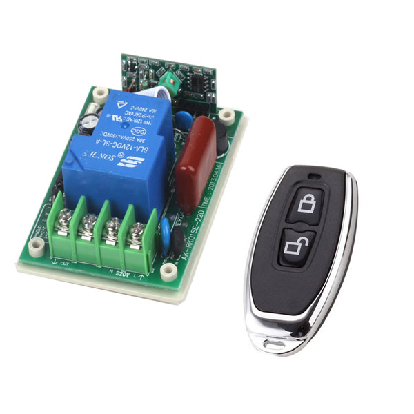 Remote Control Switches AC 220V 30A Relay Receiver Metal Transmitter Motor LED Water-Pump Wireless Switch 315/433 Learning Code<br><br>Aliexpress