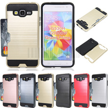 Buy PC+TPU Hybrid Brush Card holder Hard Case Cover Samsung Galaxy Grand Prime G530 G530H G5308W G5308/Grand Prime Plus G532F for $2.43 in AliExpress store