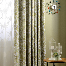 Factory direct new European American country style printing blackout curtain fabric living room window luxury fashion curtains