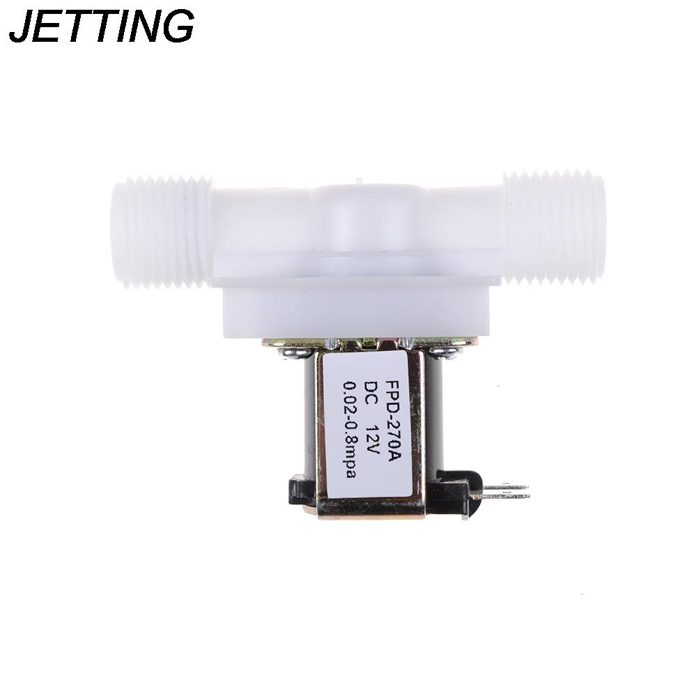 """1PCS New DC 12V 1/2"""" Electric Solenoid Valve Water Air Inlet Flow Switch N/C Normally Closed"""