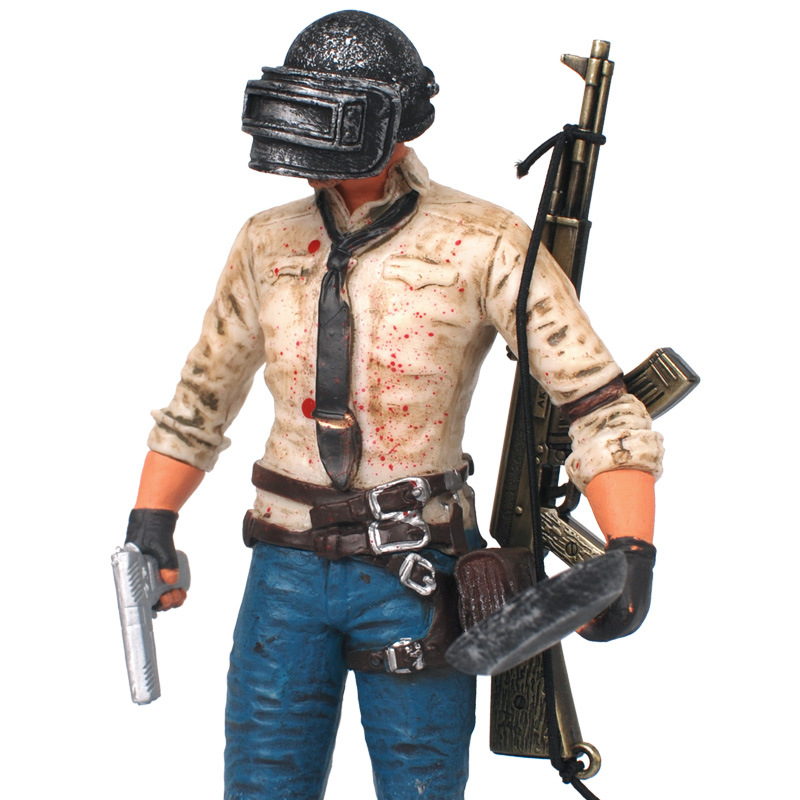 17cm PUBG Game Player Unknown Battlegrounds WINNER CHICKEN DINNER Action Figure Toy Doll Collection Model Decoration Gift <br>