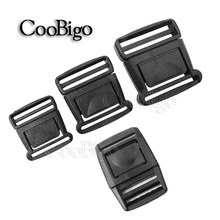 "2~1000pcs  Pack 1"" 1-1/4"" 1-1/2""Plasit Center Release Buckle Black for Outdoor Sports Bags Students Bags Luggage #FLC382"