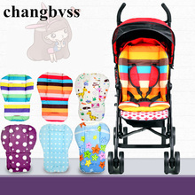 Hot Selling Multi Color Baby Stroller Pad,2016 New Thick Colorful Dot Baby Infant Cart Seat Cushion,Colorful Infant Carriage Mat