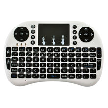 WooYi i8 Mini Wireless Keyboard 2.4ghz English Russian Air Mouse with Touchpad Remote Control For tablet laptop Android TV Box(China)