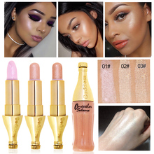 2017 New Brand Makeup For Women Glitter Color Cosmetic 1PC Waterproof Face Brighten Contouring Makeup Highlighter Shimmer Stick(China)