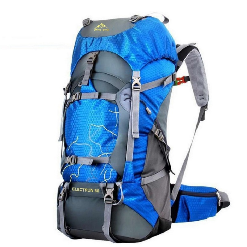 FengTu 60L Hiking Backpack Daypack For Men And Women Nylon Waterproof Camping Traveling Backpack Outdoor Climbing Sports Bag<br>