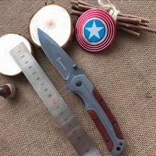 Browning Folding Knife Titanizing Stainless Steel Blade Outdoor Camping Practical Portable EDC Knives Tool