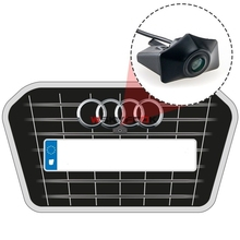 Night Vision 600L CCD Car Front View Vehicle Badge Logo Camera for Audi A6L Q5 Q7 Q3 A4L A4 b8 logo positive camera(China)