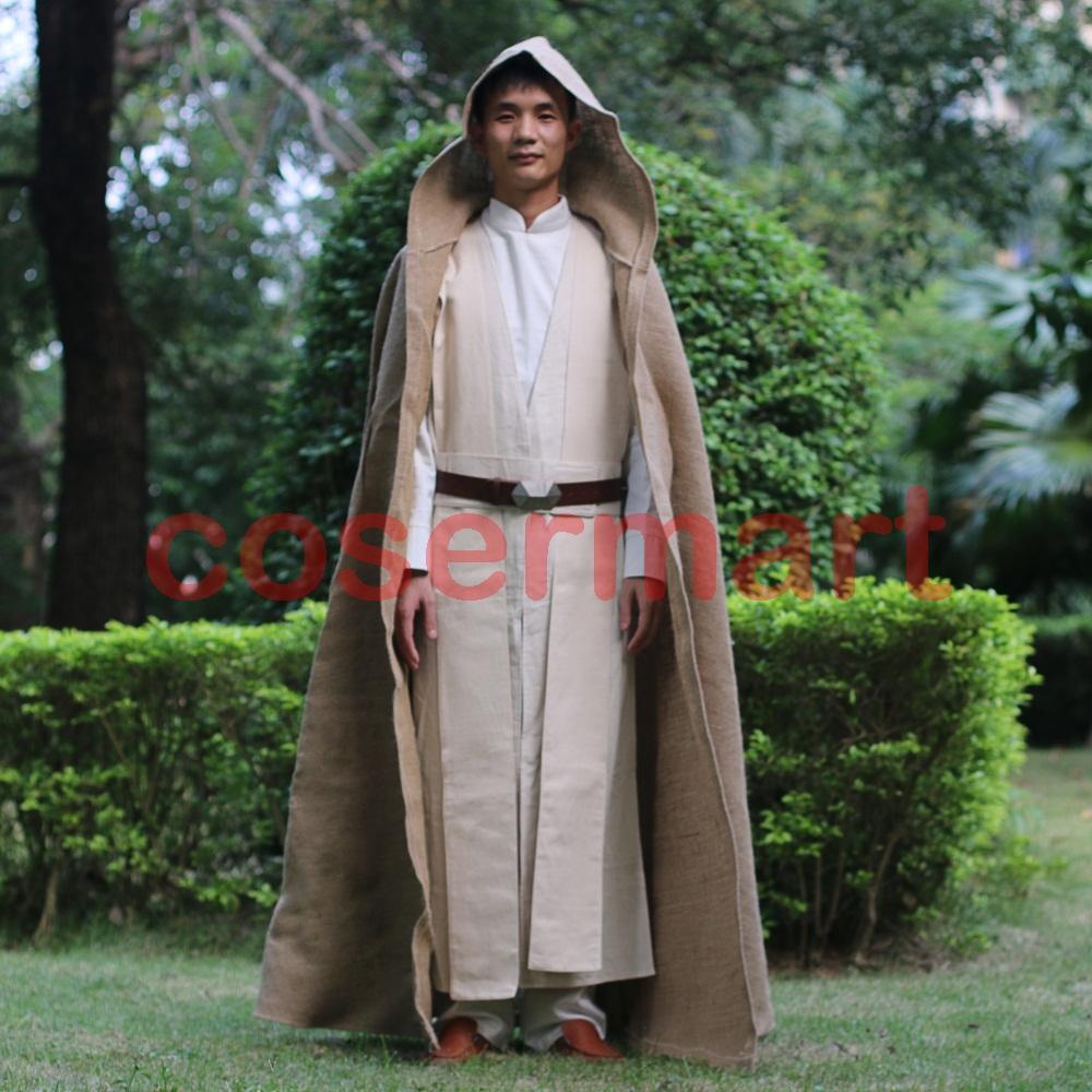 Free Shipping NEW Star Wars Jedi Luke Skywalker Custom Cosplay Costume Made Full Set COS Halloween Costume Christmas (4)