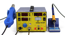 3in1 YH-853D+ hot air rework station/ReWork Station+ Mobile phone Power+Electric soldering iron 110/220V(China)