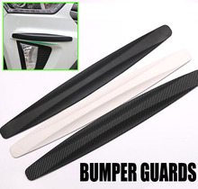 Ssport 2pcs/set Large Car Rubber Bumper Protector Guard Corner Strip Crash Bar Trim Protection Door Guards Lip Deflector