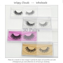 Free DHL 50 pairs 3D Mink Lashes Wholesale 100% Real Mink Handmade Mink Collection Eyelashes 33 Styles Glitter Packaging(China)