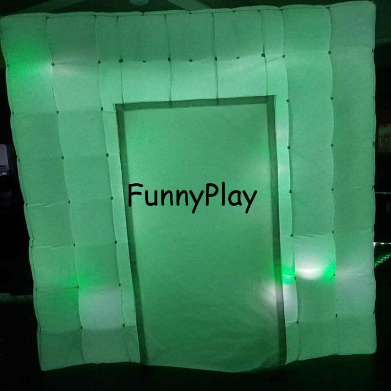 LED lighted inflatable photo booth3