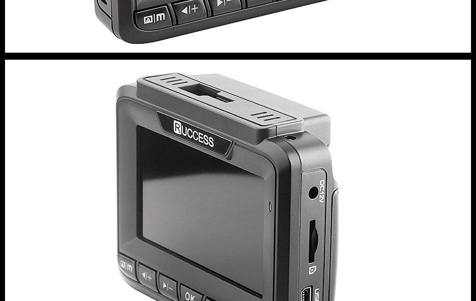 Ruccess 3 in 1 Car Radar Detector DVR Built-in GPS Speed Anti Radar Dual Lens Full HD 1296P 170 Degree Video Recorder 1080P 24