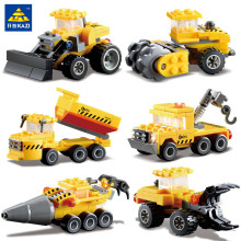 KAZI 6 Types City Build Construction Engineering Dump Trucks Car Building Blocks Toys For children Educational Assembling Bricks