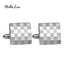 French Shirt Laser Engraving Men Jewelry Unique Wedding Groom Men Cuff Links Business silver Cufflinks For Men(China)