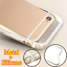 7 / 7Plus Aluminum Bumper Soft Silicone Cover For iPhone 8 4.7 iPhoneX Ultra Thin Brand Luxury Metal for iPhone7 Plus X Case(China)