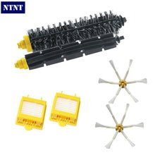 NTNT Free Post New Brush & Filter & 6 armed Side Brush Kit For iRobot Roomba 700 Series 760 770 780(China)