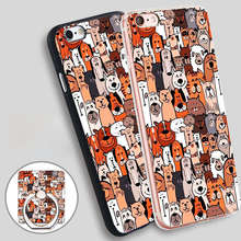 ChiChiC Patterned Socks Full Soft TPU Silicone Phone Case Cover for iPhone 5 SE 5S 6 6S 7 Plus