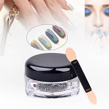 Holographic Laser Powder Punk Nail Glitter Rainbow Chrome Powder Metal Pigments Dust Nail Decoration Beauty Nail Art Tips