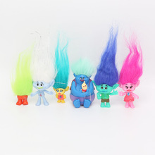 6Pcs/Set 2-6cm Trolls figures Movie Figure Collectible Dolls Branch Biggie PVC Trolls Action Figures toys children gift