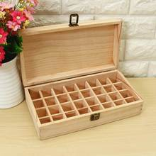 32 Holes 5ml Or 10ml Bottles Essential Oils Wooden Box SPA YOGA Club Aromatherapy  Natural Pine Wood Without Paint
