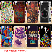 AKABEILA Hard Plastic Phone Cases For Huawei Honor 7I shot x 5.2 inch Honor7I Guitar Camera Back Cover Skin Shell Shield Bag(China)