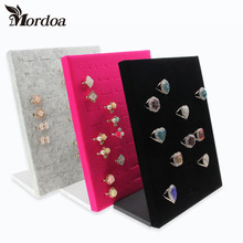 2016 Hot Sale High-end L Shape Finger Ring Jewelry Display Stand Shelf Showcase Finger Ring Holder Rack Stock Free Shipping(China)