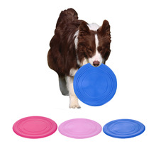 18cm Pets Silicone Frisbee Flying Disc Outdoor Playing Toy Resistance to bite Toys For medium large Dog Supplies Dog Training